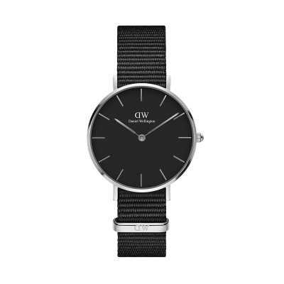 ΡΟΛΟΙ ΧΕΙΡΟΣ - DANIEL WELLINGTON Classic Petite Cornwall 28MM Silver Black