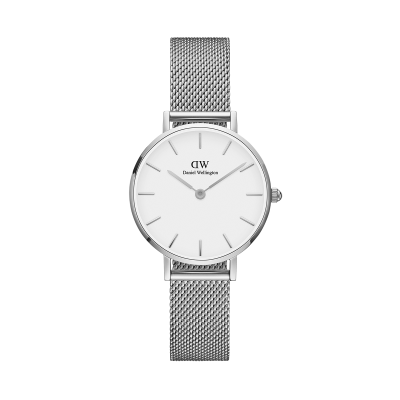 ΡΟΛΟΙ ΧΕΙΡΟΣ - DANIEL WELLINGTON Classic Petite Sterling 28mm Silver White