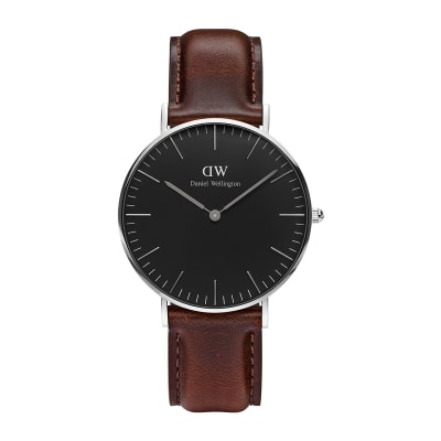 ΡΟΛΟΙ ΧΕΙΡΟΣ - DANIEL WELLINGTON Classic Black Bristol 36mm Silver