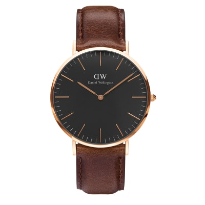 ΡΟΛΟΙ ΧΕΙΡΟΣ - DANIEL WELLINGTON Classic Black Bristol 40mm Rose Gold