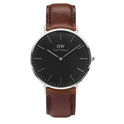 ΡΟΛΟΙ ΧΕΙΡΟΣ - DANIEL WELLINGTON Classic Black Bristol 40mm Silver