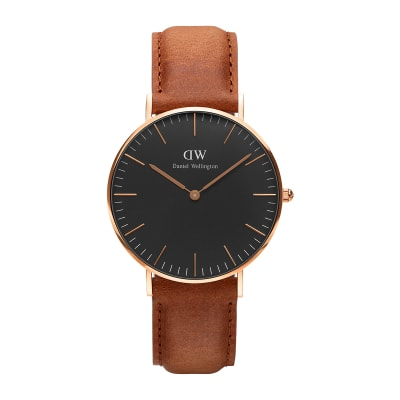 ΡΟΛΟΙ ΧΕΙΡΟΣ - DANIEL WELLINGTON Classic Black Durham 36mm Rose Gold