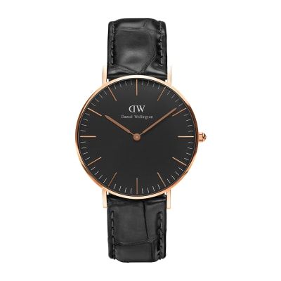 ΡΟΛΟΙ ΧΕΙΡΟΣ - DANIEL WELLINGTON Classic Black Reading 36mm Rose Gold