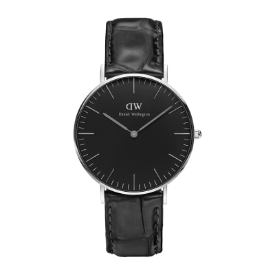 ΡΟΛΟΙ ΧΕΙΡΟΣ - DANIEL WELLINGTON Classic Black Reading 36mm Silver