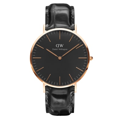 ΡΟΛΟΙ ΧΕΙΡΟΣ - DANIEL WELLINGTON Classic Black Reading 40mm Rose Gold