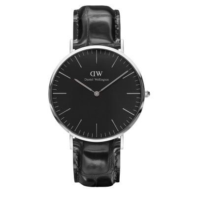 ΡΟΛΟΙ ΧΕΙΡΟΣ - DANIEL WELLINGTON Classic Black Reading 40mm Silver
