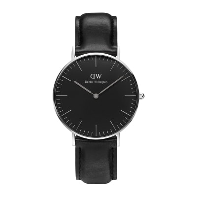 ΡΟΛΟΙ ΧΕΙΡΟΣ - DANIEL WELLINGTON Classic Black Sheffield 36mm Silver