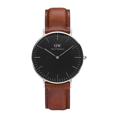 ΡΟΛΟΙ ΧΕΙΡΟΣ - DANIEL WELLINGTON Classic Black St Mawes 36mm Silver