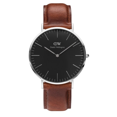 ΡΟΛΟΙ ΧΕΙΡΟΣ - DANIEL WELLINGTON Classic Black St Mawes 40mm Silver