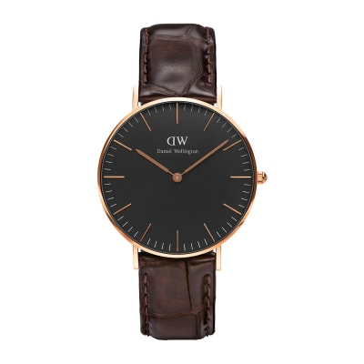 ΡΟΛΟΙ ΧΕΙΡΟΣ - DANIEL WELLINGTON Classic Black York 36mm Rose Gold