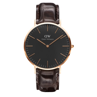 ΡΟΛΟΙ ΧΕΙΡΟΣ - DANIEL WELLINGTON Classic Black York 40mm Rose Gold