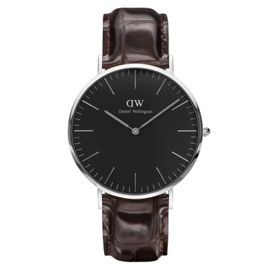 ΡΟΛΟΙ ΧΕΙΡΟΣ - DANIEL WELLINGTON Classic Black York 40mm Silver