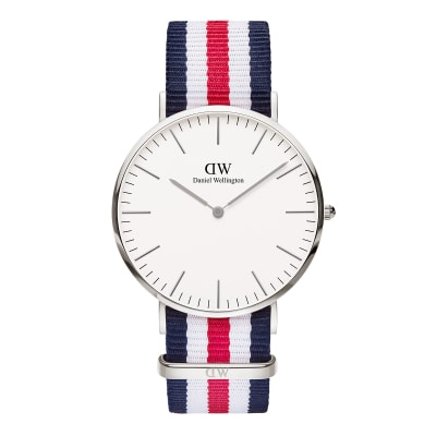 ΡΟΛΟΙ ΧΕΙΡΟΣ - DANIEL WELLINGTON Classic Canterbury 40mm Silver