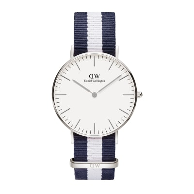 ΡΟΛΟΙ ΧΕΙΡΟΣ - DANIEL WELLINGTON Classic Glasgow 36mm Silver