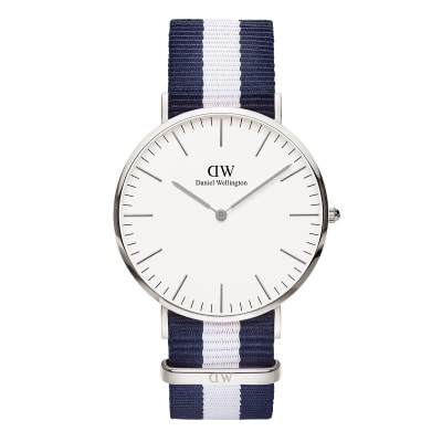 ΡΟΛΟΙ ΧΕΙΡΟΣ - DANIEL WELLINGTON Classic Glasgow 40mm Silver