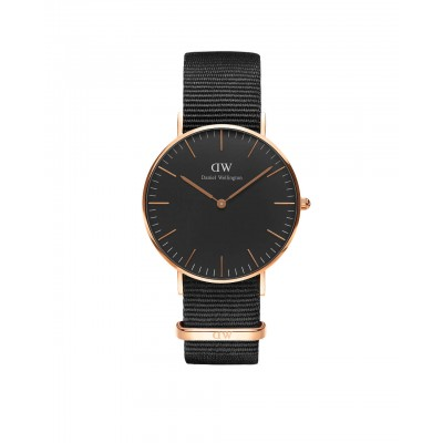 ΡΟΛΟΙ ΧΕΙΡΟΣ - DANIEL WELLINGTON Classic Black Cornwall 36mm Rose Gold