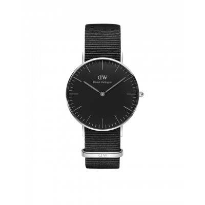 ΡΟΛΟΙ ΧΕΙΡΟΣ - DANIEL WELLINGTON Classic Black Cornwall 36mm Silver