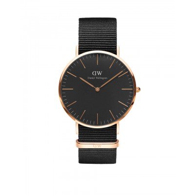 ΡΟΛΟΙ ΧΕΙΡΟΣ - DANIEL WELLINGTON Classic Black Cornwall 40mm Rose Gold