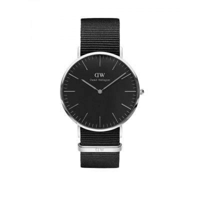 ΡΟΛΟΙ ΧΕΙΡΟΣ - DANIEL WELLINGTON Classic Black Cornwall 40mm Silver