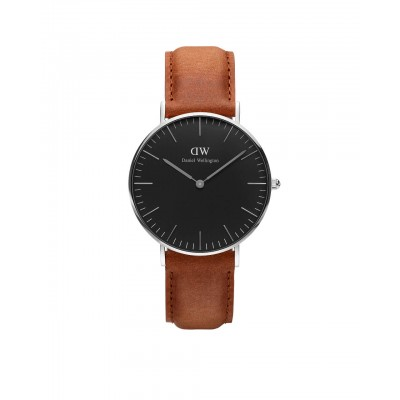 ΡΟΛΟΙ ΧΕΙΡΟΣ - DANIEL WELLINGTON Classic Black Durham 36mm Silver