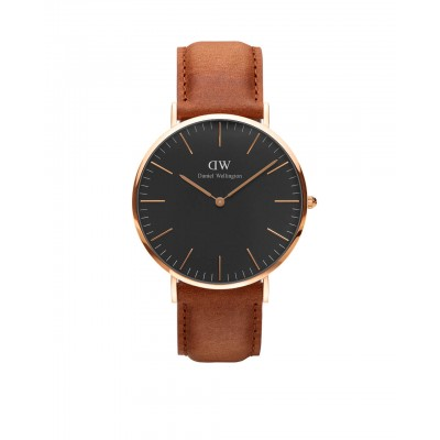 ΡΟΛΟΙ ΧΕΙΡΟΣ - DANIEL WELLINGTON Classic Black Durham 40mm Rose Gold