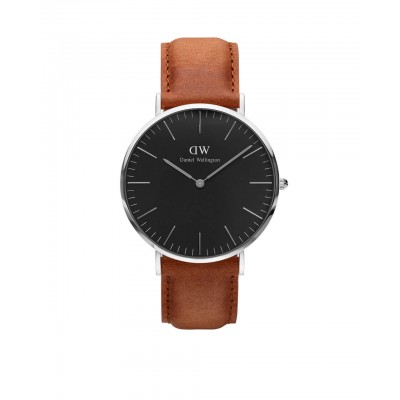 ΡΟΛΟΙ ΧΕΙΡΟΣ - DANIEL WELLINGTON Classic Black Durham 40mm Silver