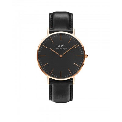 ΡΟΛΟΙ ΧΕΙΡΟΣ - DANIEL WELLINGTON Classic Black Sheffield 40mm Rose Gold