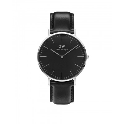 ΡΟΛΟΙ ΧΕΙΡΟΣ - DANIEL WELLINGTON Classic Black Sheffield 40mm Silver