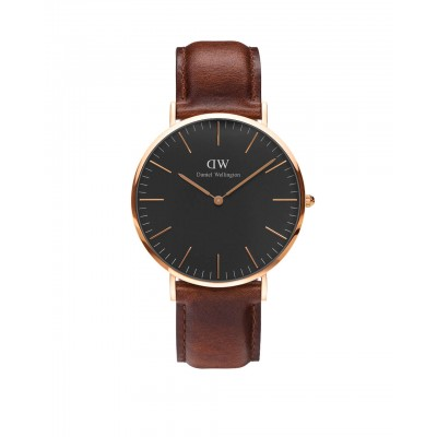 ΡΟΛΟΙ ΧΕΙΡΟΣ - DANIEL WELLINGTON Classic Black St Mawes 40mm Rose Gold