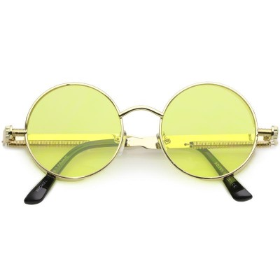 Γυαλιά Ηλίου Morseto Retro Steampunk Colorful Round Gold Yellow