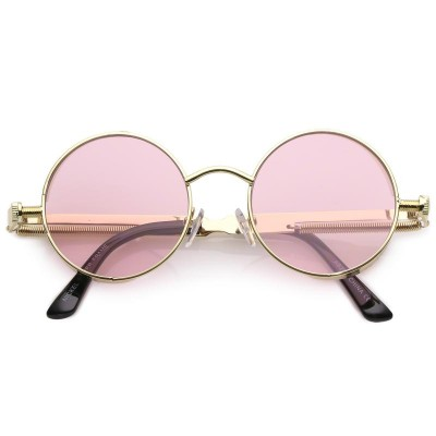 Γυαλιά Ηλίου Morseto Retro Steampunk Colorful Round Gold Pink