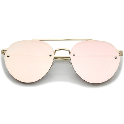 Γυαλιά Ηλίου Morseto Modern Mirrored Rimless Aviator Gold Pink