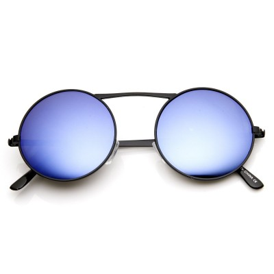 Γυαλιά Ηλίου Morseto Large Retro Round Steampunk Black Blue