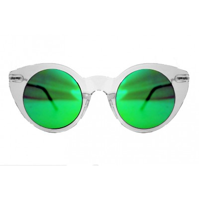 9f2a9f8240ef Sunglasses Spitfire SUPER SYMMETRY Clear   Green Mirror