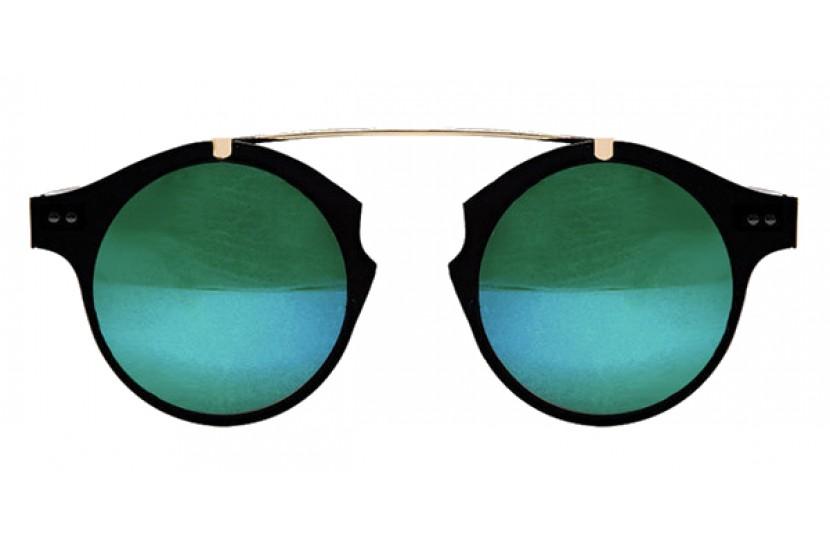 Γυαλιά Ηλίου Spitfire INTERGALATIC Black & Gold / green Mirror