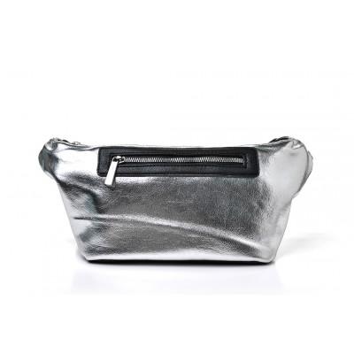 Τσαντάκι Μέσης Silver Metallic