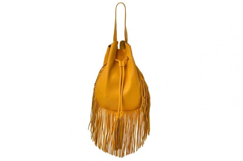 Τσάντα ώμου με κρόσσια Brown